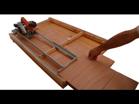 WoodWork Hero – Circular saw guide based woodworking table