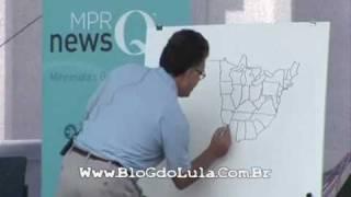 Senador dos EUA desenha mapa dos EUA à mão livre