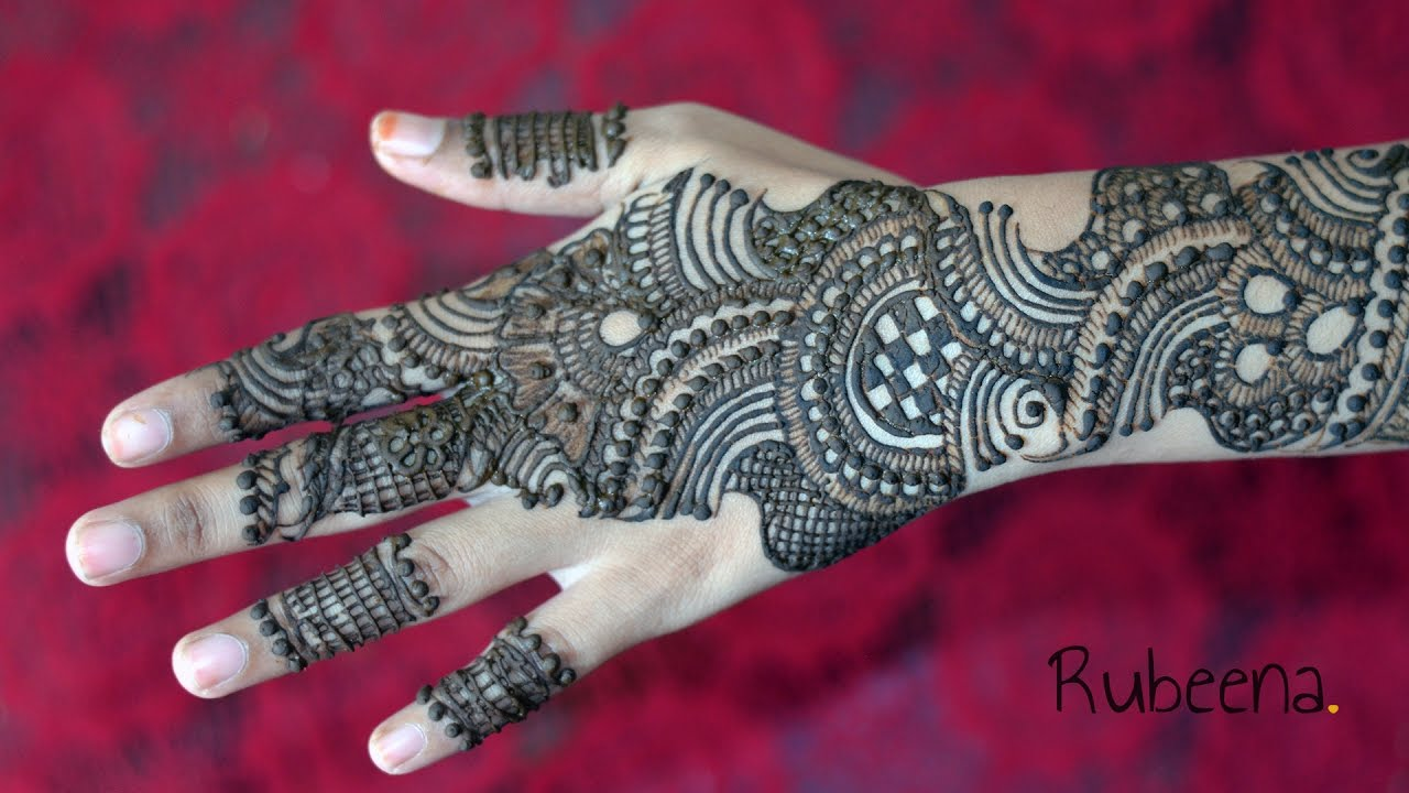 Full Hand Latest Indo Arabic Mehndi Design  Back Side  Step By Step  DIY