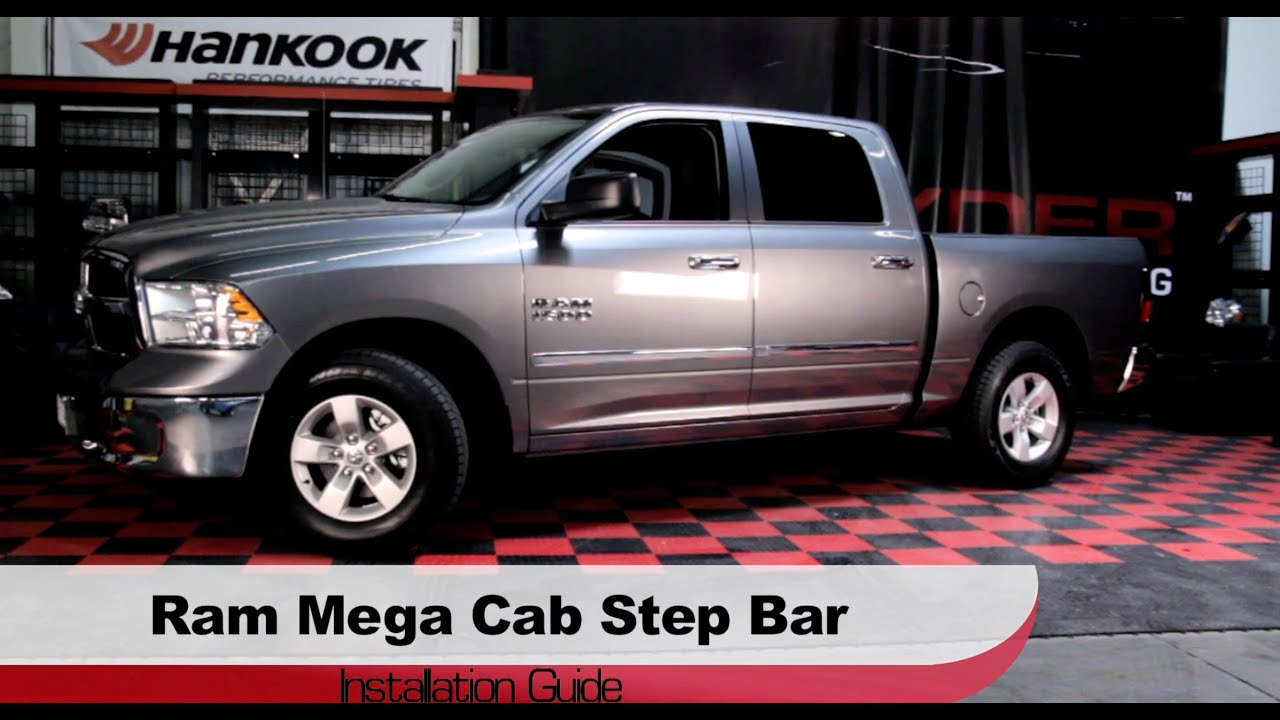 Spyder Auto Installation 2010 13 Dodge Ram 1500 Mega Cab Step Bars