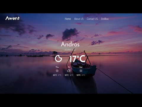 Weather Plugin for Joomla Page Builder Gridbox