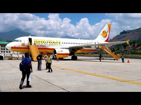 Takeoff from the world's most dangerous airport: Bhutan Airlines A319 Business Class (Paro to Delhi)