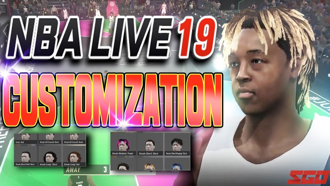 NBA LIVE 19 Player and Court Customization Detailed