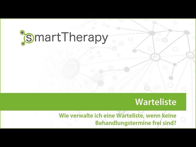 smartTherapy: Warteliste