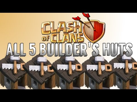 How To Get All 5 Builder's Huts Free In Clash of Clans!