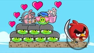 Angry Birds Heroic Rescue - FIGHTING WITH ALL PIGGIES TO RESCUE STELLA!!