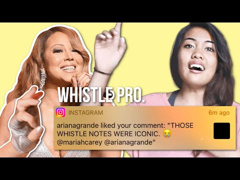 How To Sing Whistle Notes Like MARIAH CAREY!?