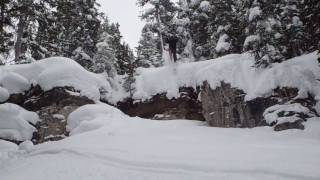 Vail Backcountry Skiing in Mushroom Bowl - Ski Cliff Jump Thumbnail