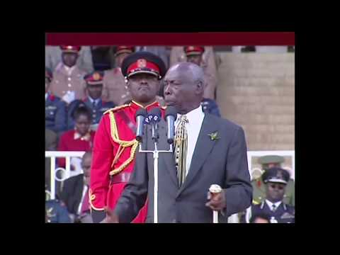 His Excellency Daniel Toroitich Arap Moi Last Jamuhuri Speech as President of Kenya