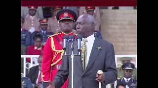 His Excellency Daniel Toroitich Arap Moi Last Jamuhuri Speech as President of Kenya