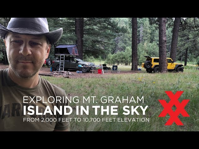 Car Camping Mt. Graham Sky Island Subaru Outback with iKamper Skycamp Rooftop Tent