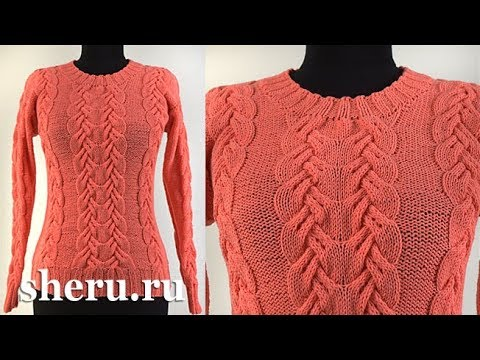 Вязание спицами для женщин свитера видео уроки