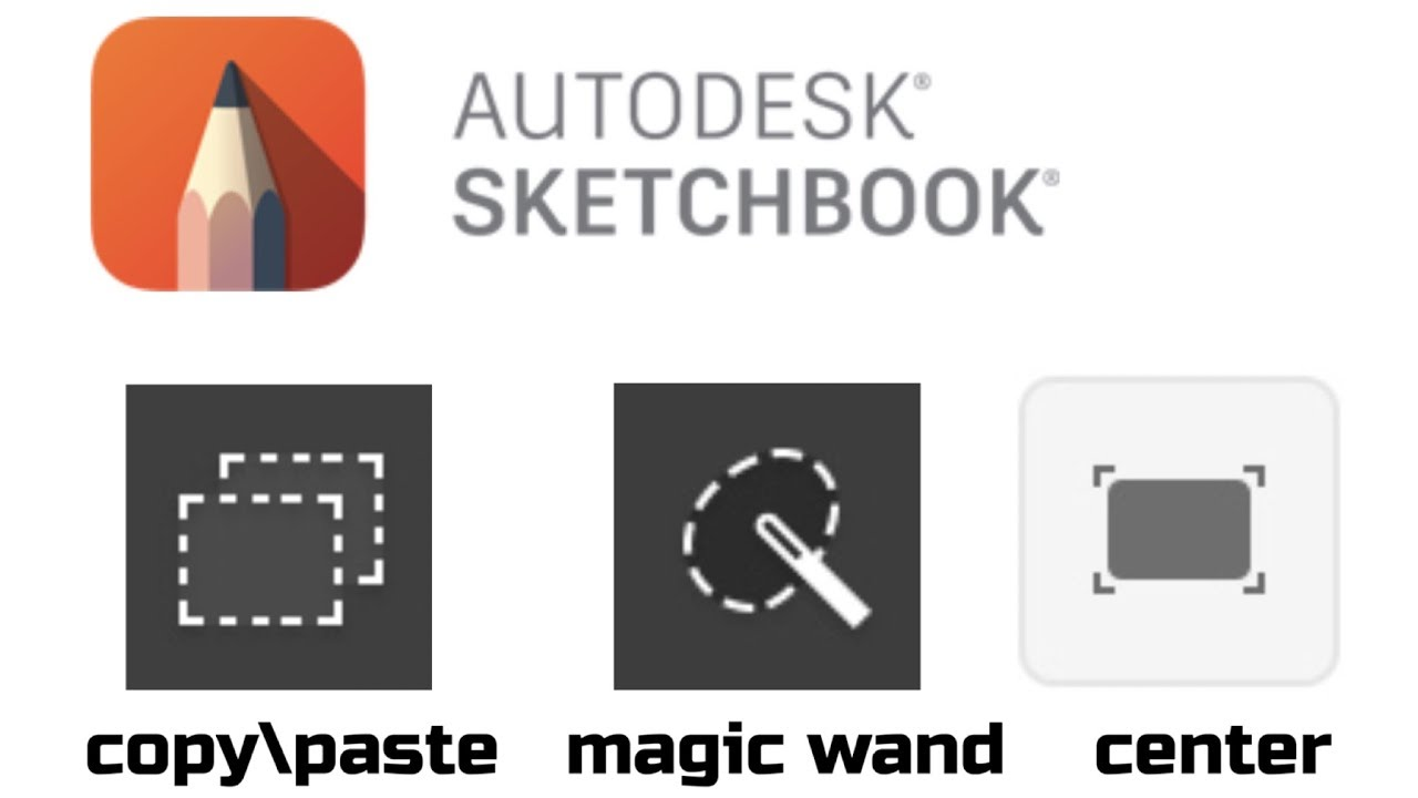 SKETCHBOOK MOBILE | HOW TO COPY PASTE | CENTER SCREEN | MAGIC WAND EXPLAINED