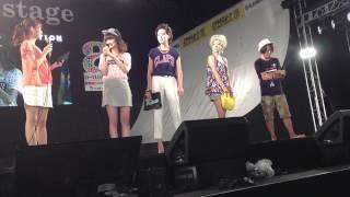 可愛いツインテールとカジュアルなX-girlワンピースを着用して登場したA...