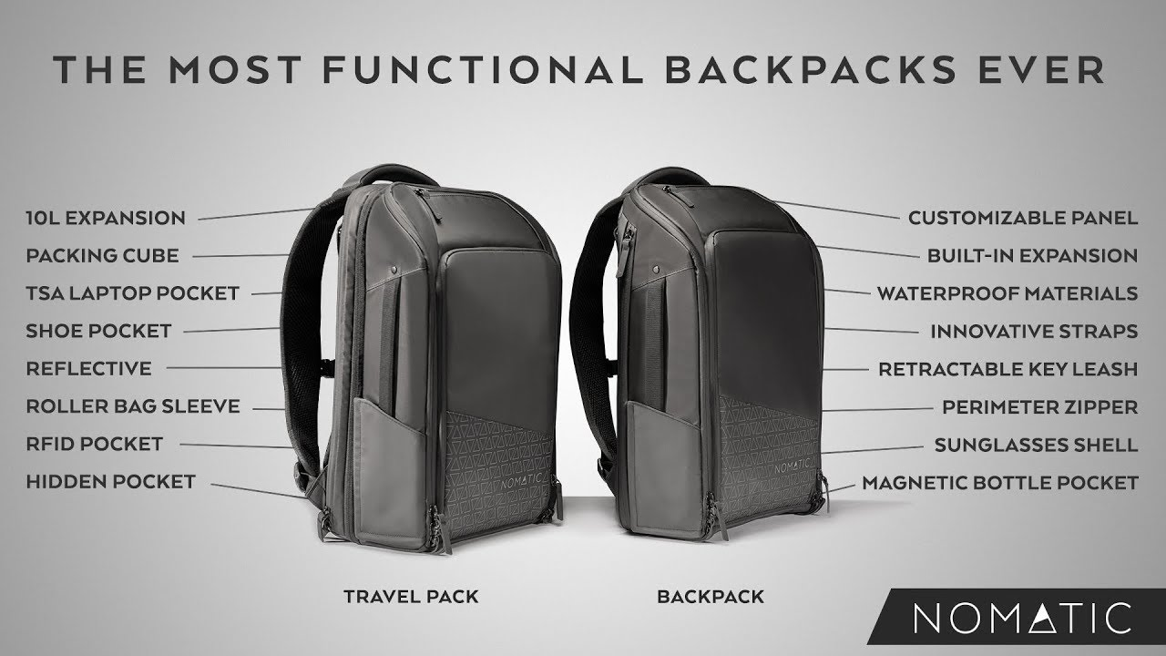 Meet the NOMATIC Backpack   Travel Pack - YouTube 82345ba1df9ff