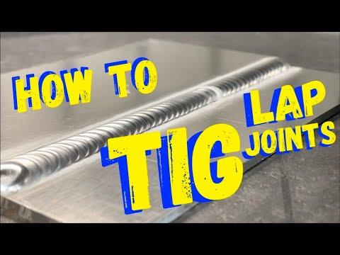 TIG WELDING HOW TO - TIG WELDING FOR BEGINNERS - THE LAP WELD!