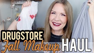 Fall Makeup Haul - All Drugstore! | LipglossLeslie