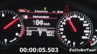audi a7 3 0 tdi quattro 0 100 km h acceleration beschleunigung on highway autobahn