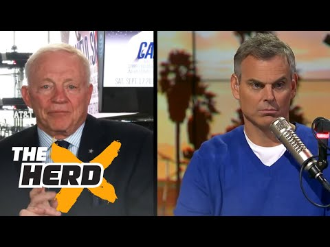 Cowboys Owner Jerry Jones talks Dak and Dez with Colin - 'The Herd' (FULL INTERVIEW)