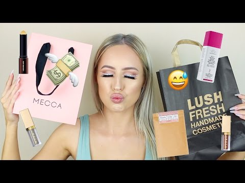 Makeup, Skincare & Clothing Haul | Mecca, Lush, Hourglass, Stila, Frank Body