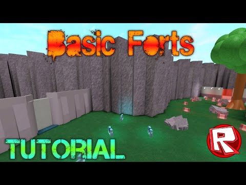 [ROBLOX: Building Tutorial] - Basic Forts + Design (Best)