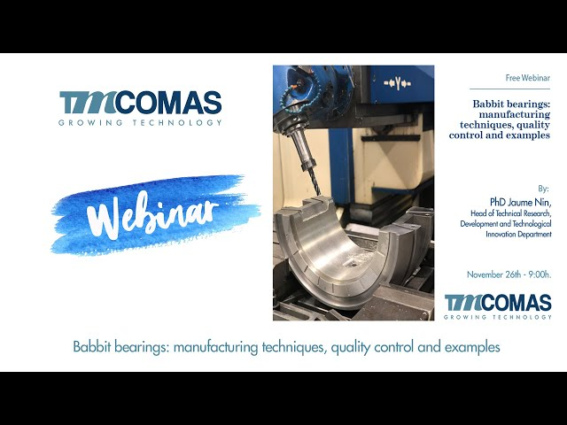 TMCOMAS Webinar: Babbit bearings