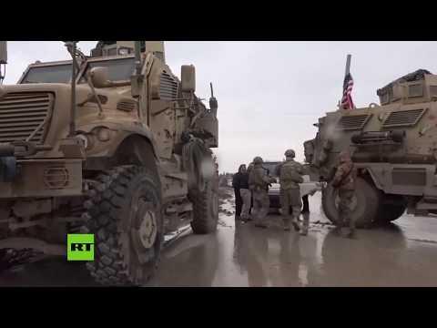 RT en Español: Tropas de EE.UU. detienen a un convoy militar de Rusia en Siria