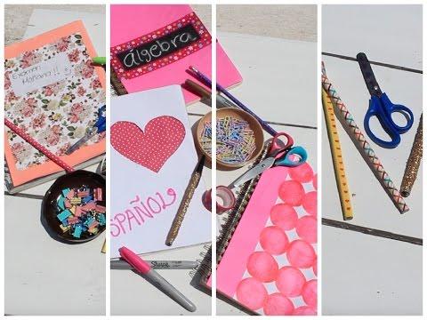 Regreso a clases decora tus cuadernos y mas diy youtube - Plumas para decorar ...
