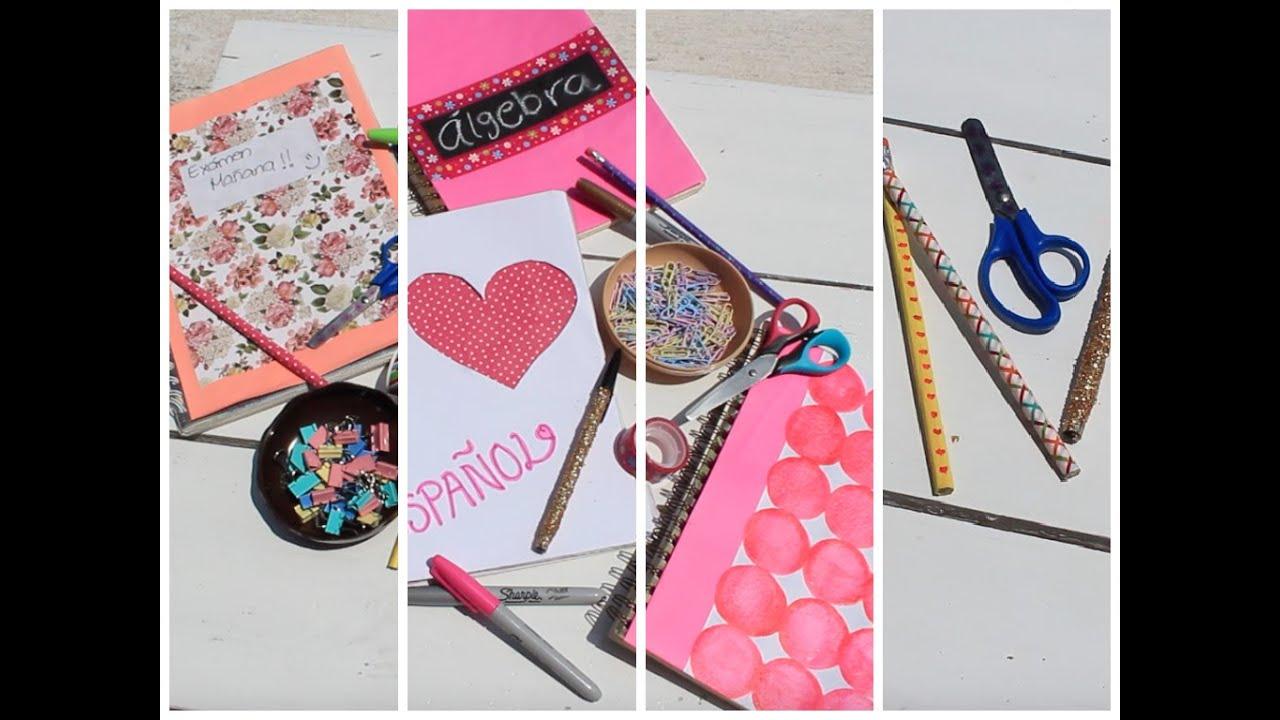 Ideas para decorar tus libretas o cuadernos diy regreso a for Decoraciones para hojas