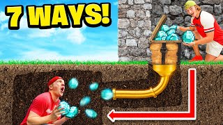 7 Ways To STEAL Your Friends DIAMONDS! IRL Challenge