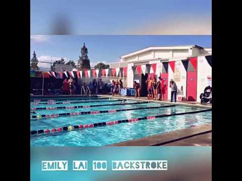 Emily Lai Covina High Colts Varsity Swim 100 Backstroke