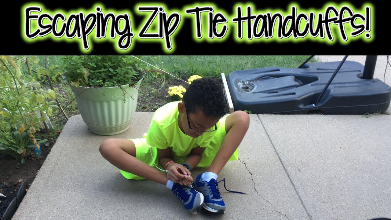 1st Attempt   Child Escaping Zip Tie Handcuffs In 1 Minute!