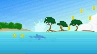 Игра Дельфин собирает звезды