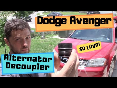 How to replace alternator decoupler on Dodge Avenger (Fix loud engine noise!)