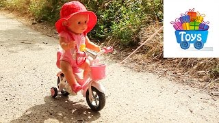 Прогулка  с беби бон Соней на велосипеде. Беби бон видео 20.(Прогулка с беби бон Соней на велосипеде. Катаем на велосипеде, на качеле, игравем на детской площадке. Кана..., 2016-06-20T11:00:01.000Z)