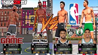 ME & RAPPER THE GAME🔥 VS. D'ANGELO RUSSELL & JAYSON TATUM🔥 NBA PLAYERS IN THE PLAYGROUND  NBA 2K19