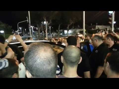 Nil Tennant And Chris Lowe  ( The Pet Shop Boys) Are Rushed To Nokia Stadium In Tel Aviv