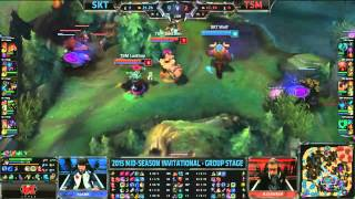 SKT (Marin Gnar) VS TSM (Dyrus Hecarim) Highlights {REKT} - 2015 MSI Day 1