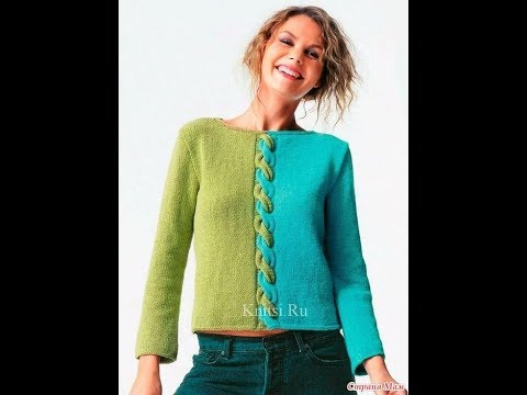 Двухцветный Пуловер Спицами - 2019 / Two-color Pullover Knitting Needles