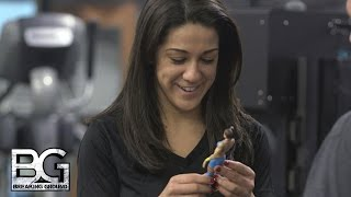 Bayley is presented with her first action figure: WWE Breaking Ground, only on WWE Network