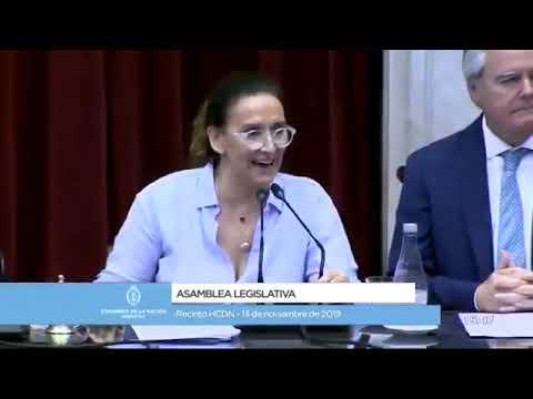 Gabriela Michetti en la proclamación de la fórmula F-F