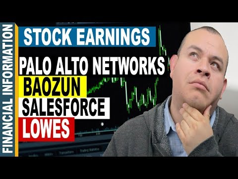 Stock Earnings | Baozun, Salesforce, Lowes, Palo Alto Networks