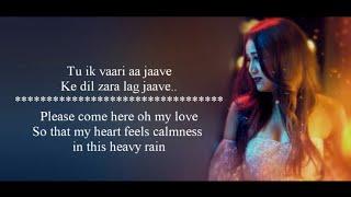 "Baarish - Female Version by Neha Kakkar"" Lyrics With Translation - Bilal Saeed"