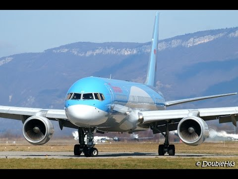Boeing 757-200 TUI Landing & Take Off @ Chambery airport !