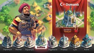 OYUNDA OSMANLI VAR ☺😃 RİSE OF KİNGDOMS