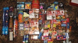 Мои фейерверки, салюты, петарды 2009-2013 год! (My fireworks, vuuwerks)[Обзор]