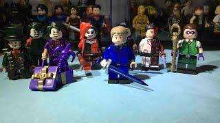 Custom Lego Mad Hatter, Joker, Alternate Joker, Harley Quinn, Dead Shot, Two face and Riddler