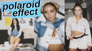 how to get the polaroid effect on instagram | polaroid instagram theme