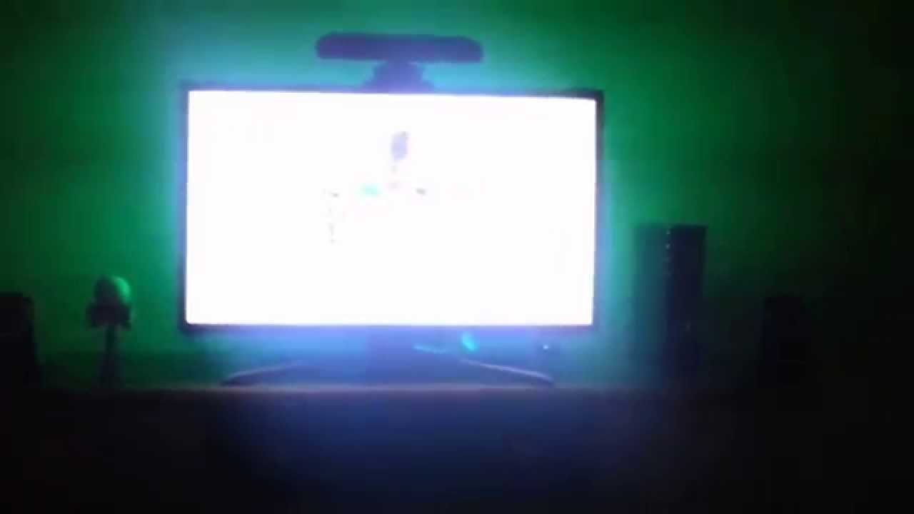 tv accent lighting. HitLights Accent Lighting LED Strips On My 32 Inch Samsung TV Tv