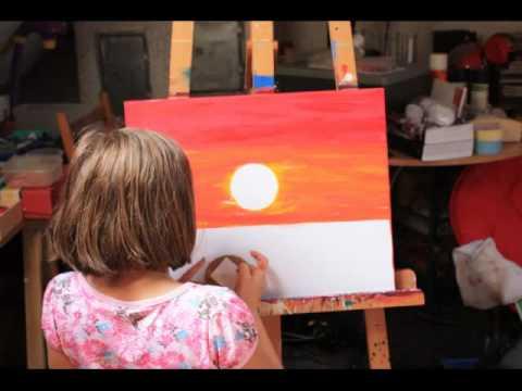 Malerei von celine zapp landschaft sonnenuntergang 2 - Acrylmalerei ideen ...